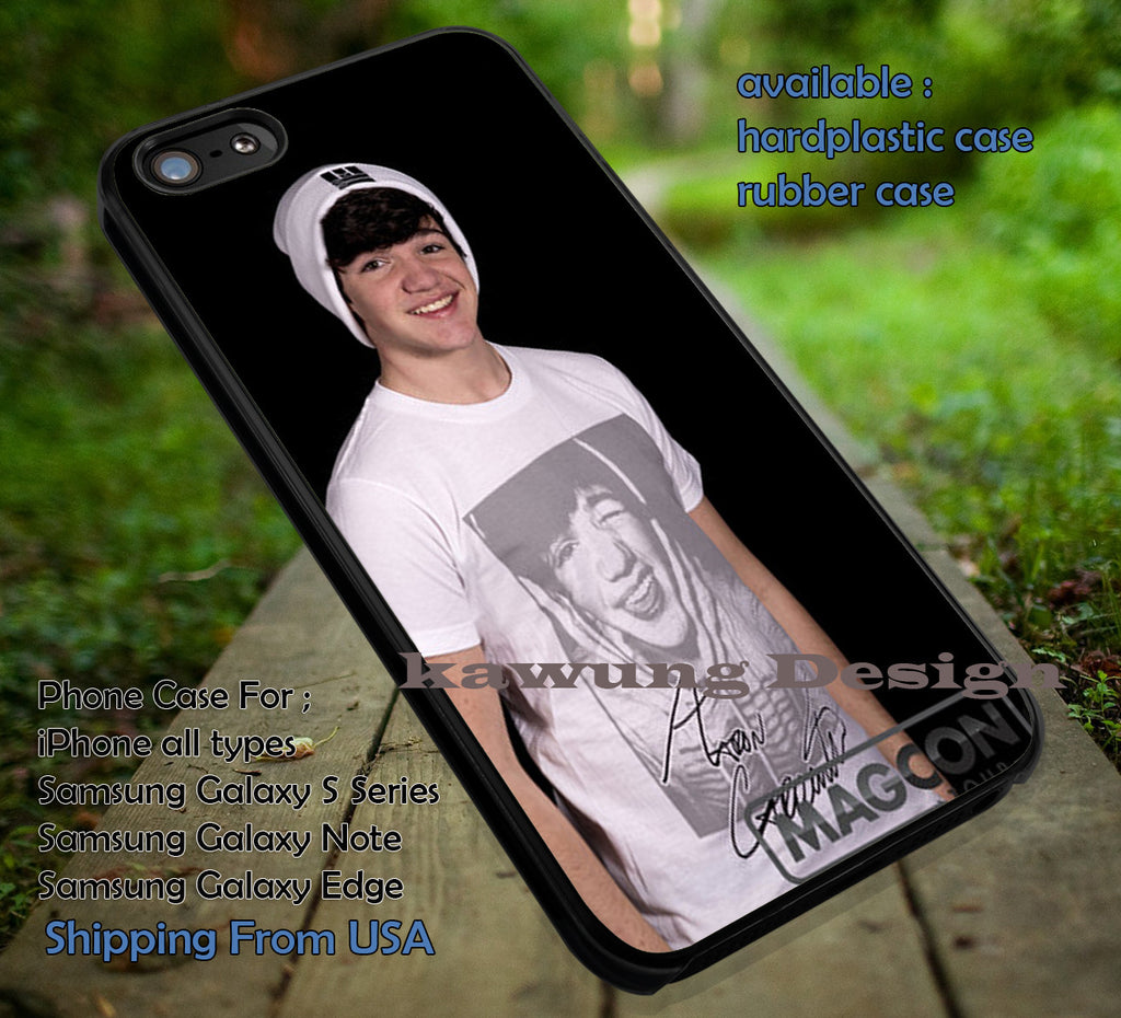 Aaron Carpenter White Shirt iPhone 6s 6 6s+ 6plus Cases Samsung Galaxy s5 s6 Edge+ NOTE 5 4 3 #movie #MagconBoys ii - Kawung Design  - 4