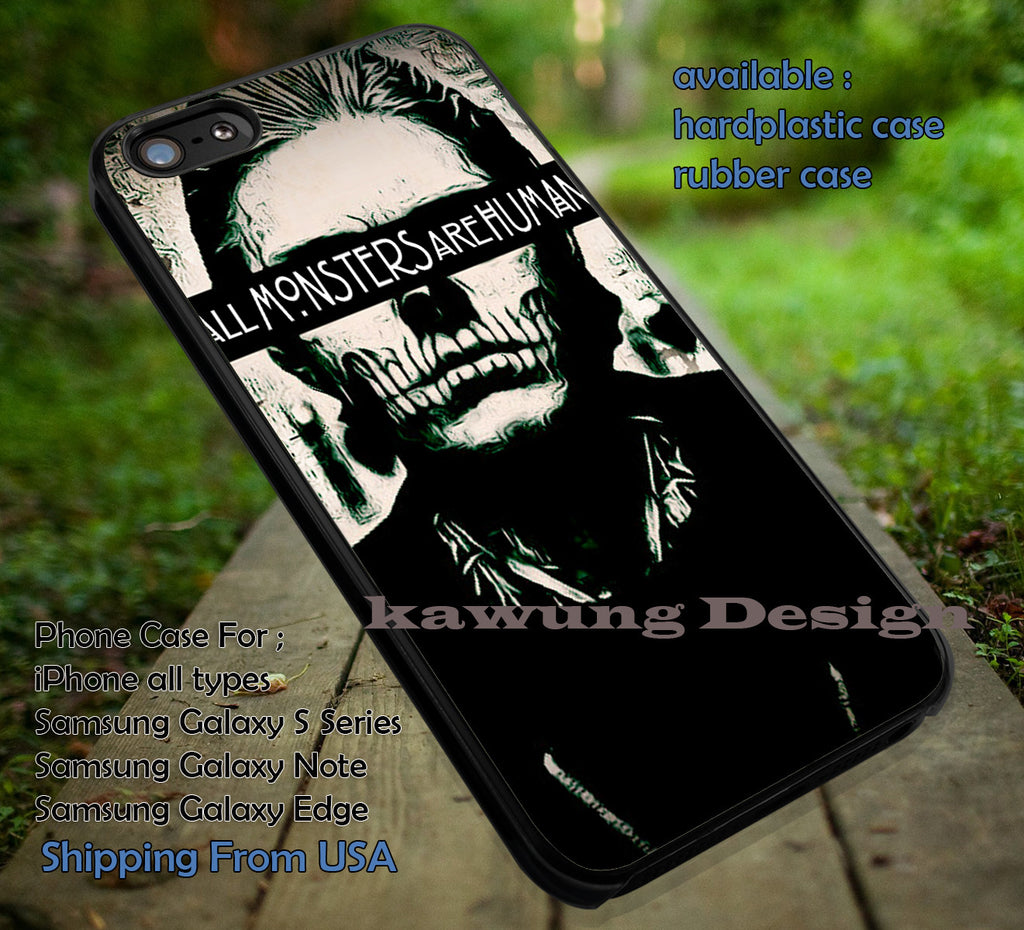 All Monsters Are Human Evan Peters iPhone 8+ 7 6s Cases Samsung Galaxy S8 S7 edge NOTE 8 5 4