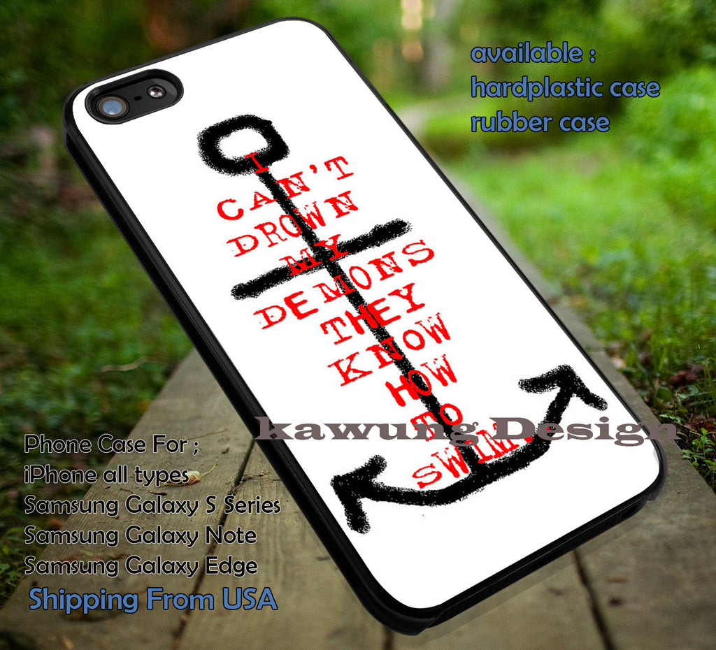 Anchor Demons BMTH iPhone 6s 6 6s+ 6plus Cases Samsung Galaxy s5 s6 Edge+ NOTE 5 4 3 #music #bmth ii - Kawung Design  - 4