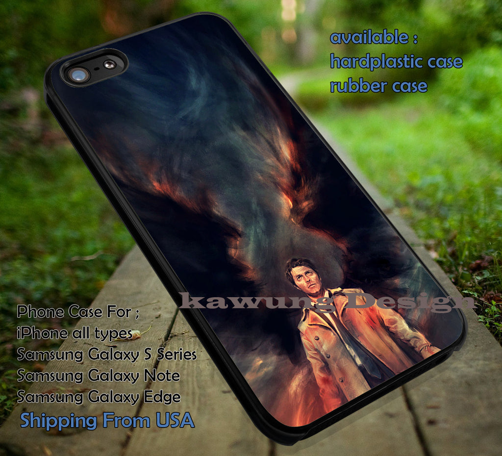 Angel | Castiel | Supernatural iPhone 6s 6 6s+ 6plus Cases Samsung Galaxy s5 s6 Edge+ NOTE 5 4 3 #movie #supernatural ii - Kawung Design  - 1