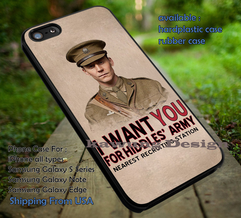 Army Recruitment | Tom Hiddleston | Loki iPhone 6s 6 6s+ 6plus Cases Samsung Galaxy s5 s6 Edge+ NOTE 5 4 3 #movie #cartoon #disney #animated #marvel #comic ii - Kawung Design  - 1
