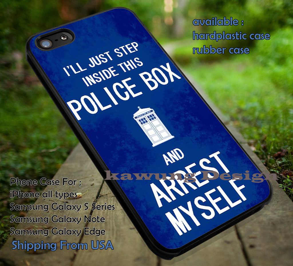 Arrest in This Police Box | Tardis | Sherlock | Quote iPhone 6s 6 6s+ 6plus Cases Samsung Galaxy s5 s6 Edge+ NOTE 5 4 3 #movie #cartoon #superwholock #doctorwho #sherlockholmes ii - Kawung Design  - 4