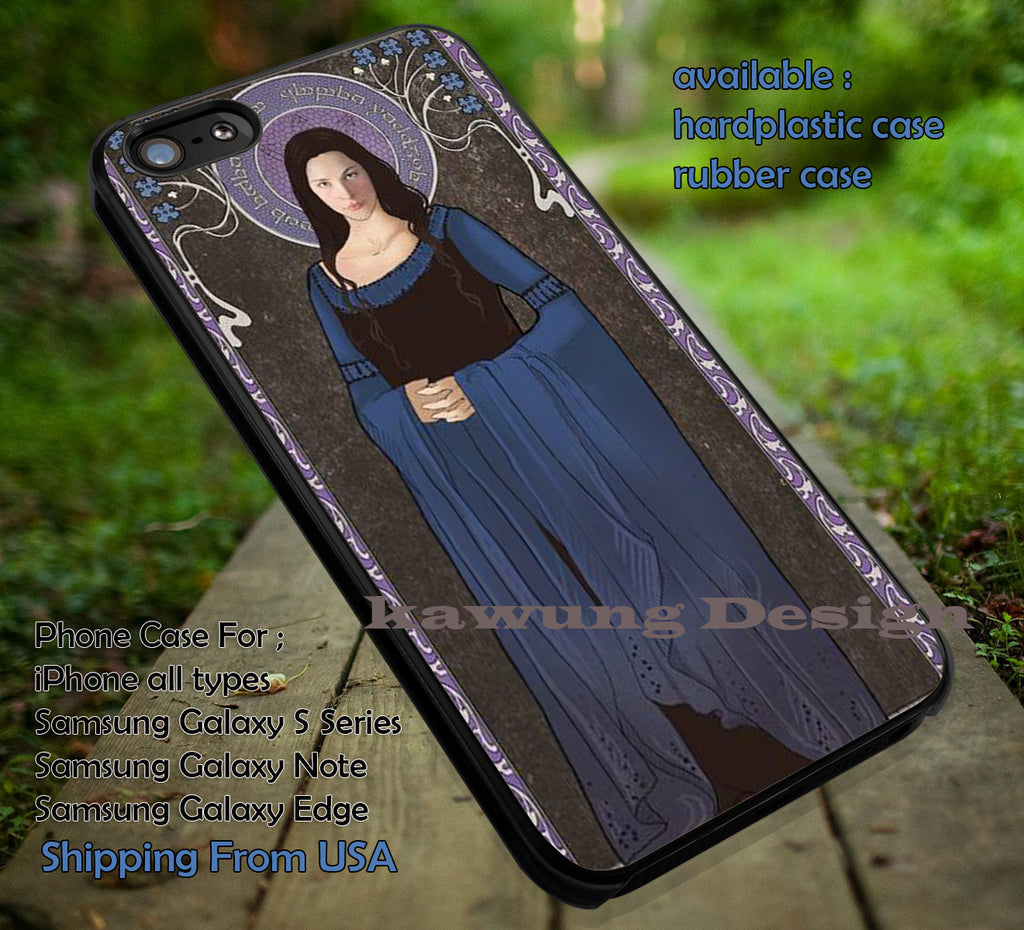 Art Noveau Princess Elf | Arwen | Lord Of The Rings iPhone 6s 6 6s+ 6plus Cases Samsung Galaxy s5 s6 Edge+ NOTE 5 4 3 #movie #TheLordofTheRings ii - Kawung Design  - 1