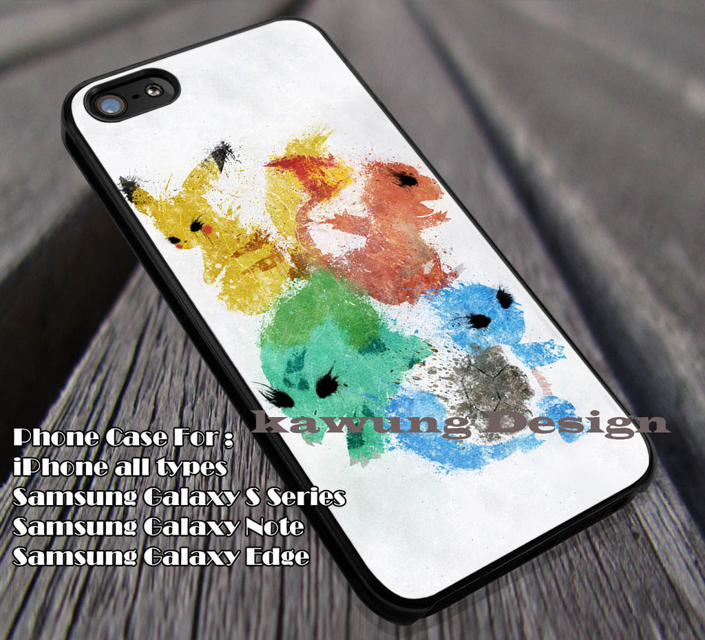 Art Painting | Pokemon | Cute Monster Case/Cover for iPhone 4/4s/5/5c/6/6+/6s/6s+ Samsung Galaxy S4/S5/S6/Edge/Edge+ NOTE 3/4/5 #cartoon #animated #Pokemon ii - Kawung Design  - 1