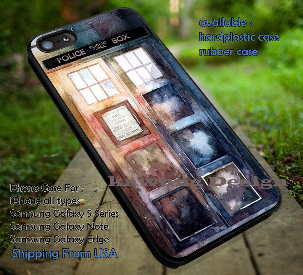 Art Police Box | Water Color | Tardis iPhone 6s 6 6s+ 6plus Cases Samsung Galaxy s5 s6 Edge+ NOTE 5 4 3 #movie #cartoon #superwholock #doctorwho #sherlockholmes ii - Kawung Design  - 4