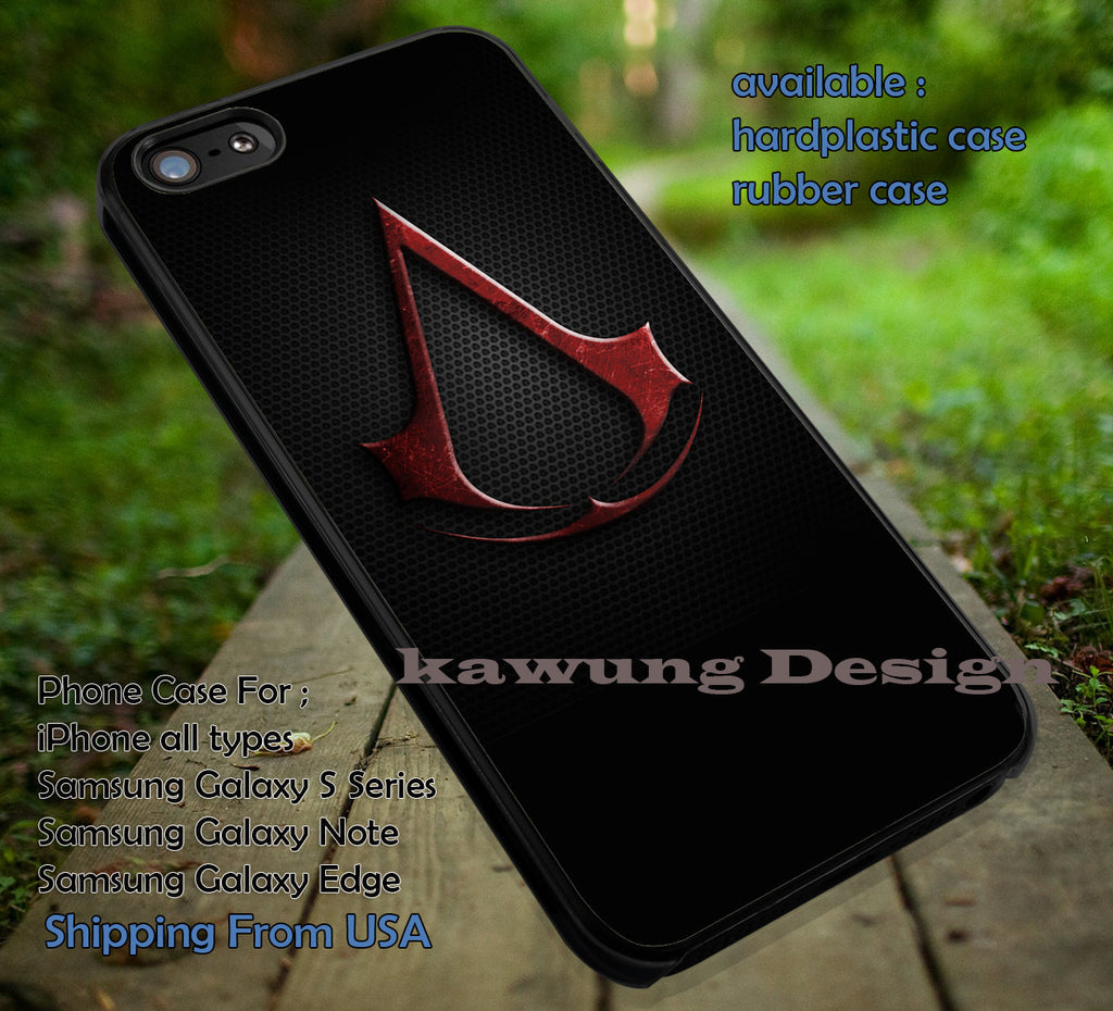 Assassin Creed Logo Game iPhone 8+ 7 6s Cases Samsung Galaxy S8 S7 edge NOTE 8 5 4
