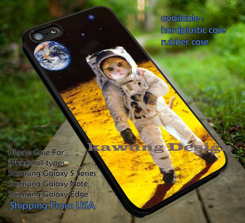 Astronot Cat Space iPhone 6s 6 6s+ 6plus Cases Samsung Galaxy s5 s6 Edge+ NOTE 5 4 3 #other ii - Kawung Design  - 1