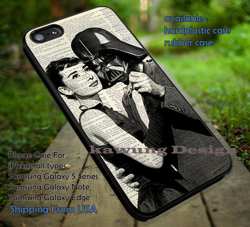 Audrey Dance With Darth iPhone 6s 6 6s+ 6plus Cases Samsung Galaxy s5 s6 Edge+ NOTE 5 4 3 #movie #actrees #adh ii - Kawung Design  - 1