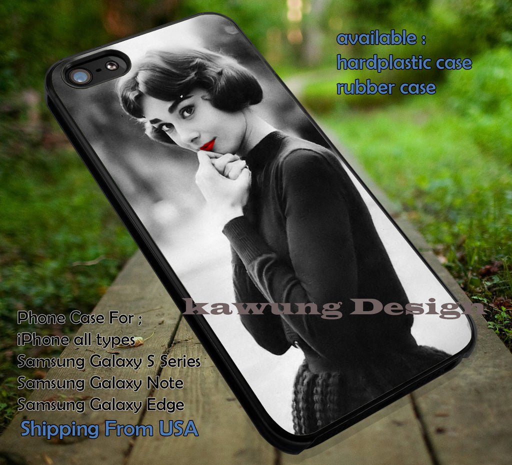 Audrey Hepburn Beautiful iPhone 6s 6 6s+ 6plus Cases Samsung Galaxy s5 s6 Edge+ NOTE 5 4 3 #movie #actrees #adh ii - Kawung Design  - 1