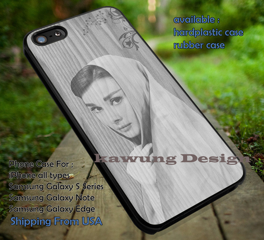 Audrey on Wood iPhone 6s 6 6s+ 6plus Cases Samsung Galaxy s5 s6 Edge+ NOTE 5 4 3 #movie #actrees #adh ii - Kawung Design  - 1