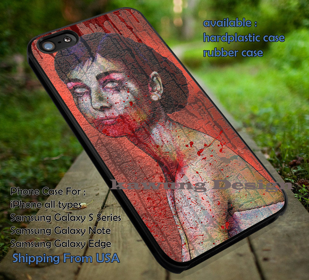 Audrey Zombie With Blood iPhone 6s 6 6s+ 6plus Cases Samsung Galaxy s5 s6 Edge+ NOTE 5 4 3 #movie #actrees #adh ii - Kawung Design  - 1