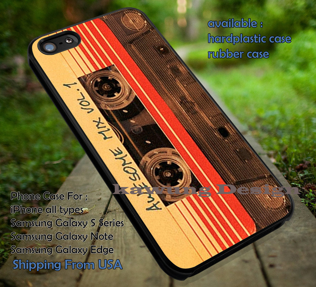 Awesome Mix Vol 1 Guardian of the Galaxy iPhone X 8+ 7 6s Cases Samsung Galaxy S8 S7 edge NOTE 8 5 4