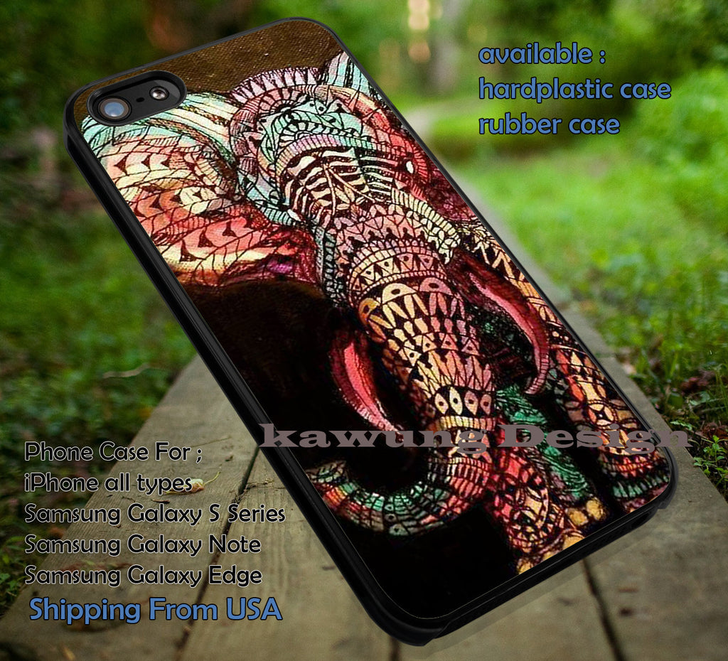Aztec Elephant Fullcolor iPhone 6s 6 6s+ 6plus Cases Samsung Galaxy s5 s6 Edge+ NOTE 5 4 3 #art ii - Kawung Design  - 1