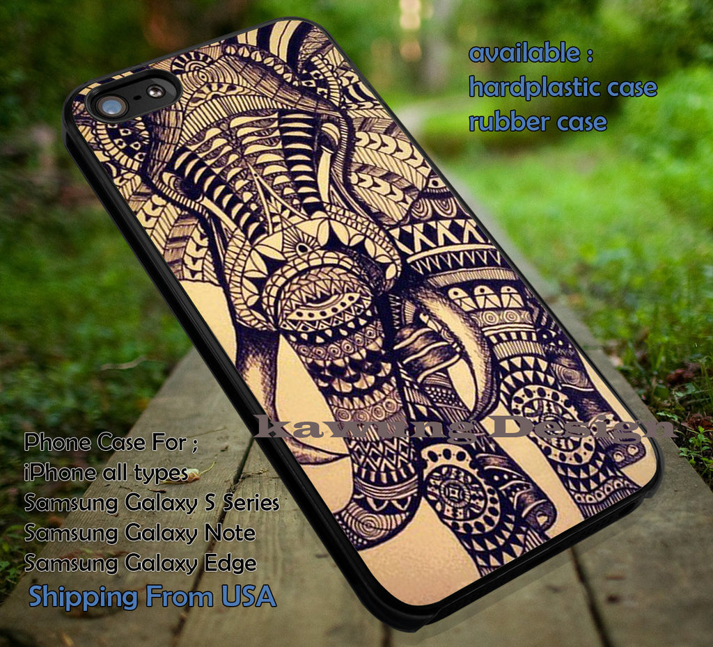 Copy of Aztec Elephant Fullcolor iPhone 6s 6 6s+ 6plus Cases Samsung Galaxy s5 s6 Edge+ NOTE 5 4 3 #art ii - Kawung Design  - 4