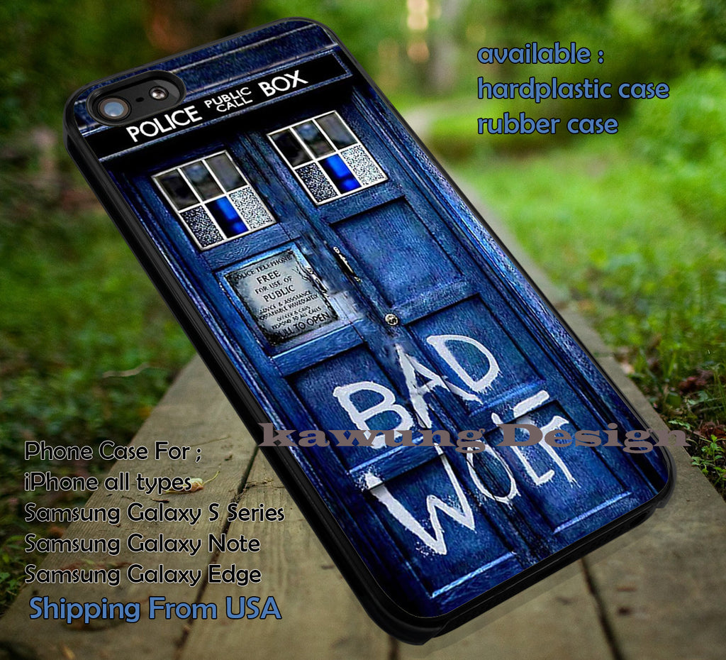 Bad Wolf Tardis iPhone X 8+ 7 6s Cases Samsung Galaxy S8 S7 edge NOTE 8 5 4