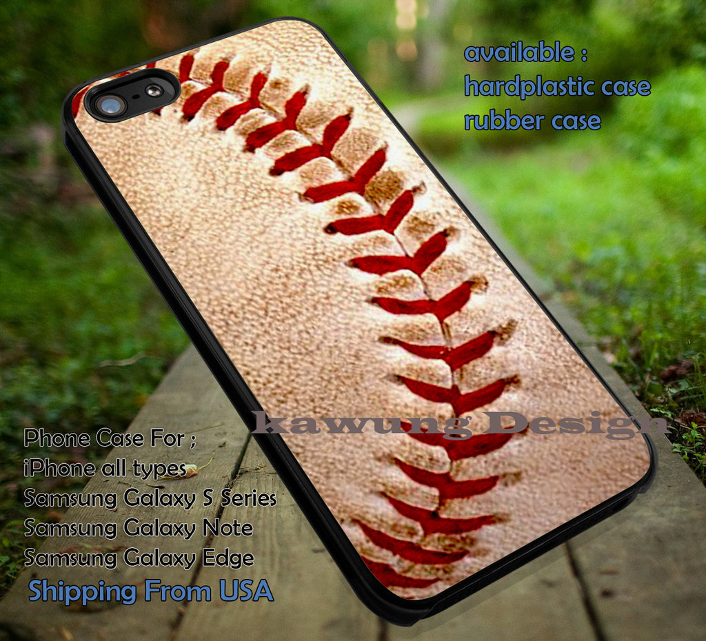 Ball Game, Baseball, Ball, case/cover for iPhone 4/4s/5/5c/6/6+/6s/6s+ Samsung Galaxy S4/S5/S6/Edge/Edge+ NOTE 3/4/5 #sport ii - Kawung Design  - 1