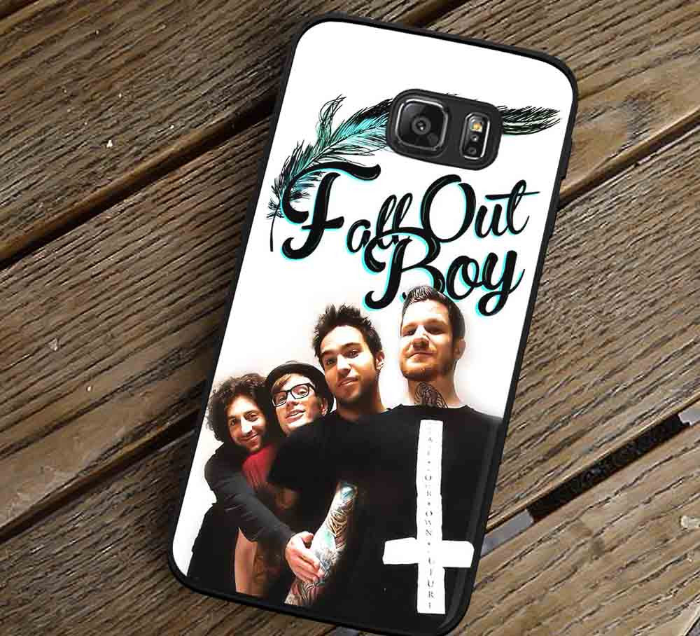 Band Fall Out Boy Samsung Galaxy s3 s4 s5 s6 Edge+ NOTE 5 4 3 Cases #music #fob lk - Kawung Design  - 1