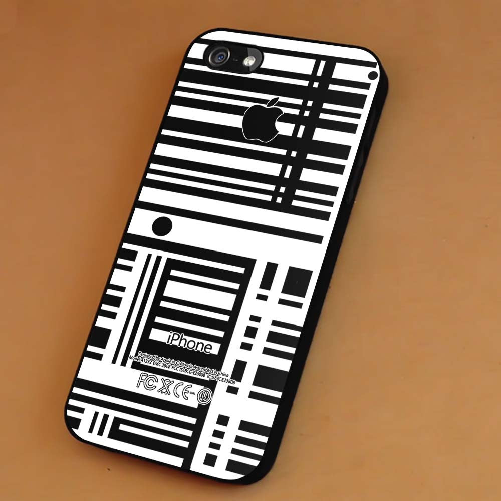 Barcode Line Stripe Apple iPhone X 8+ 7 6s Cases Samsung Galaxy S8 S7 edge NOTE 8 5 4