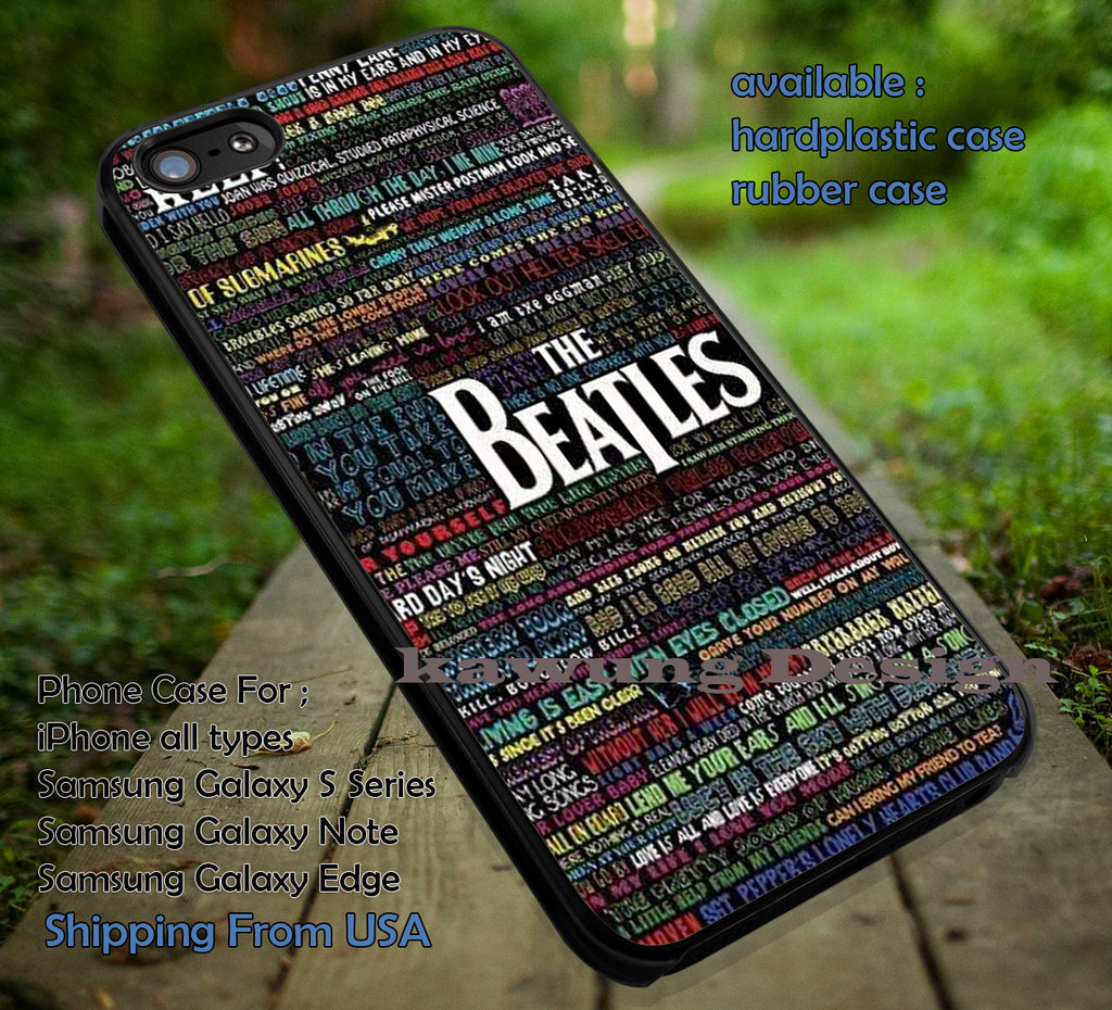 Beatles lyric quote art, The Beatles, music, case/cover for iPhone 4/4s/5/5c/6/6+/6s/6s+ Samsung Galaxy S4/S5/S6/Edge/Edge+ NOTE 3/4/5 #music #betls ii - Kawung Design  - 1