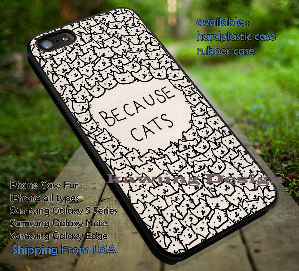 Because Cat iPhone 6s 6 6s+ 6plus Cases Samsung Galaxy s5 s6 Edge+ NOTE 5 4 3 #art ii - Kawung Design  - 1