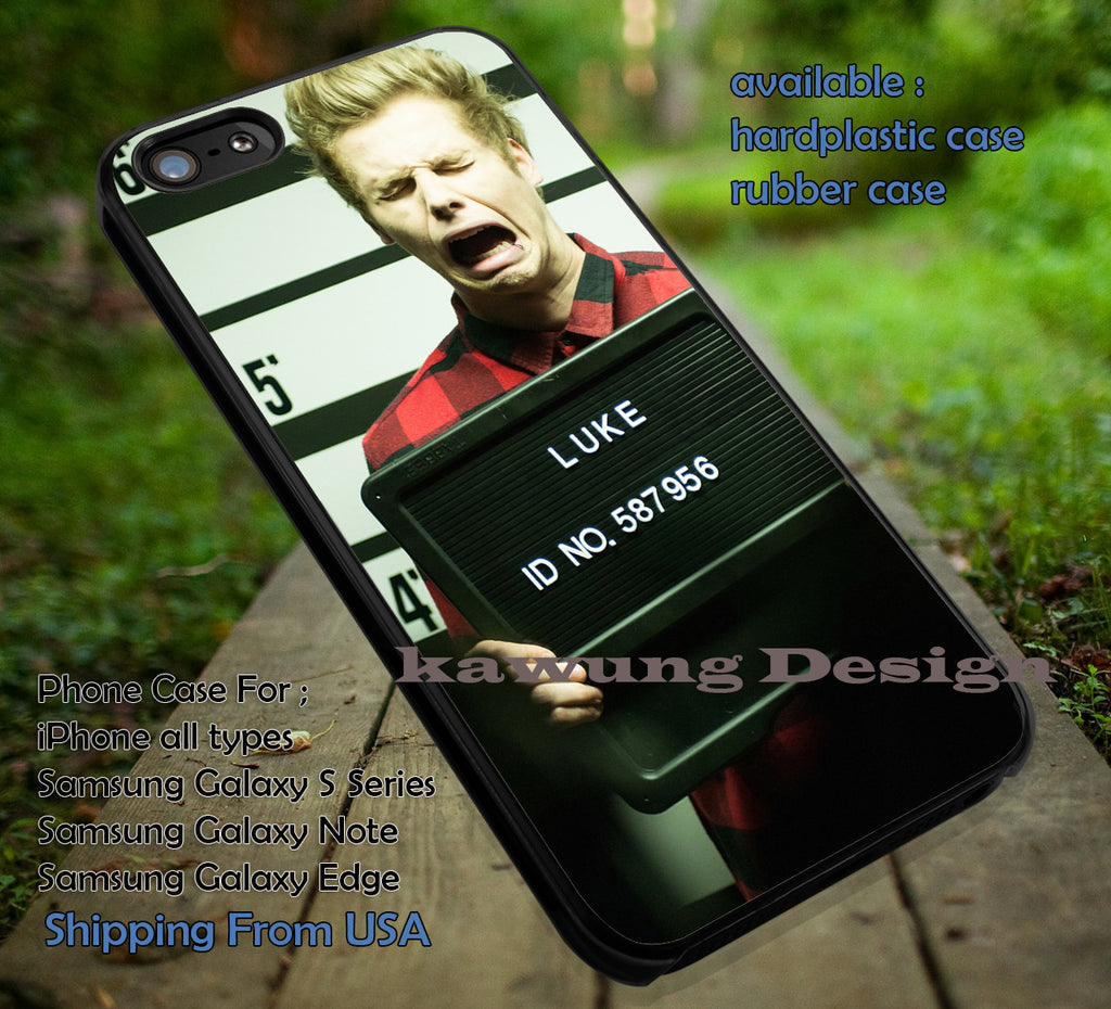 Behind the scene funny luke, their not just, a band to me, 5sos, 5 Second of Summer, case/cover for iPhone 4/4s/5/5c/6/6+/6s/6s+ Samsung Galaxy S4/S5/S6/Edge/Edge+ NOTE 3/4/5 #music #5sos ii - Kawung Design  - 1