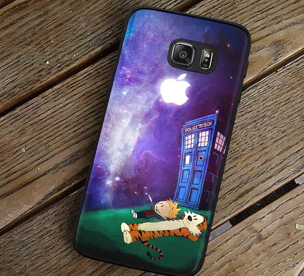 Best Friend and Tardis Samsung Galaxy s3 s4 s5 s6 Edge+ NOTE 5 4 3 Cases #cartoon #anime #calvinandhobbes lk - Kawung Design  - 1