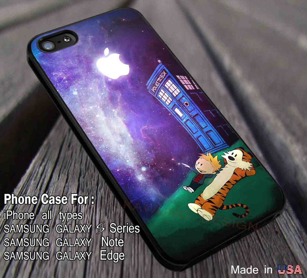 Best Friend and Police Box Calvin and Hobbes iPhone 8+ 7 6s Cases Samsung Galaxy S8 S7 edge NOTE 8 5 4