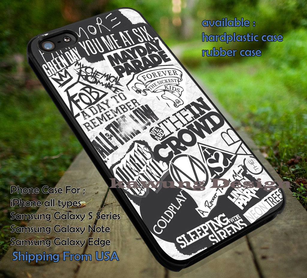 best punk collage, coldplay, FOB, fall out boy, case/cover for iPhone 4/4s/5/5c/6/6+/6s/6s+ Samsung Galaxy S4/S5/S6/Edge/Edge+ NOTE 3/4/5 #music #fob ii - Kawung Design  - 1