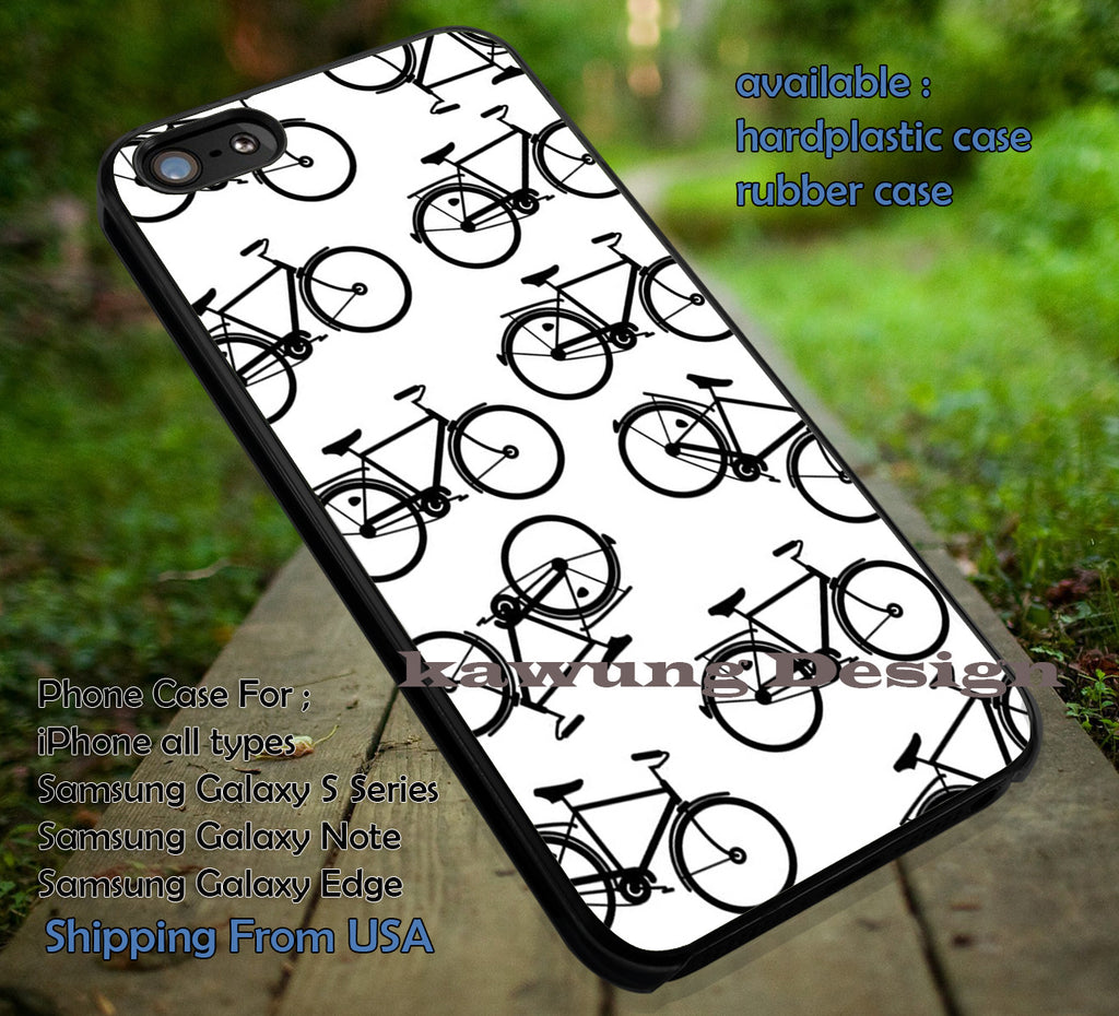Bike Cyclist Black on White iPhone 6s 6 6s+ 6plus Cases Samsung Galaxy s5 s6 Edge+ NOTE 5 4 3 #art ii - Kawung Design  - 1