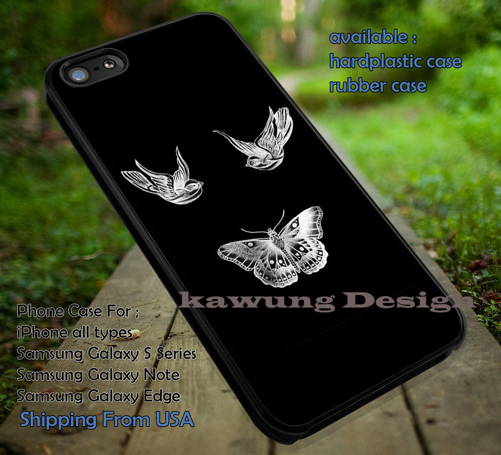 Birds and Butterfly | Harry Styles | Tattoo iPhone 6s 6 6s+ 6plus Cases Samsung Galaxy s5 s6 Edge+ NOTE 5 4 3 #music #1d ii - Kawung Design  - 1