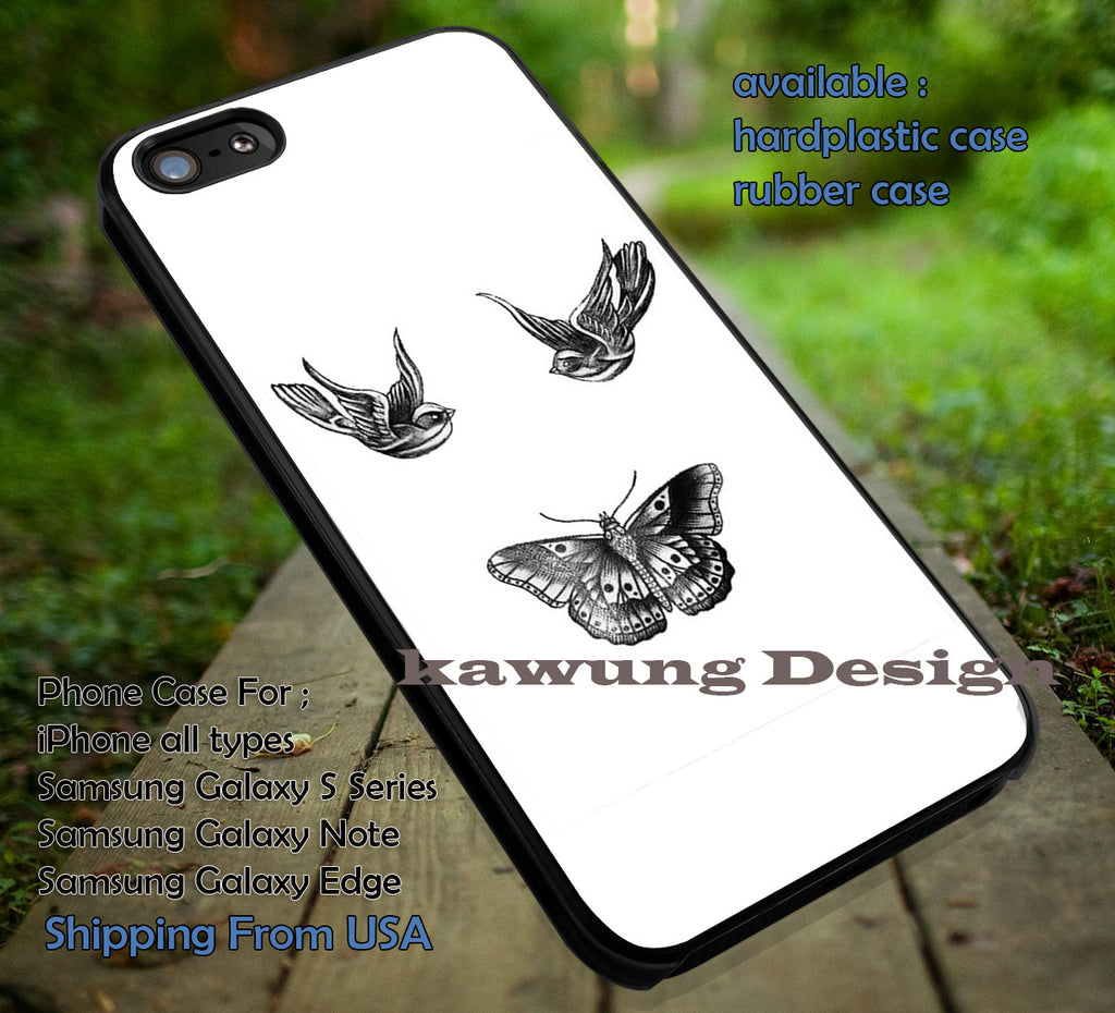 Birds and butterfly tattoos,Harry Styles,One Direction,art,1D,zayn malik case/cover for iPhone 4/4s/5/5c/6/6+/6s/6s+ Samsung Galaxy S4/S5/S6/Edge/Edge+ NOTE 3/4/5 #music #1d ii - Kawung Design  - 1