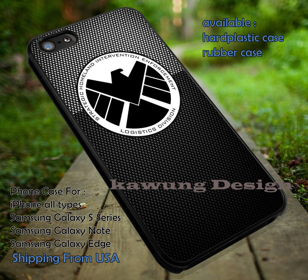 Black Agent Logo Shield iPhone 8+ 7 6s Cases Samsung Galaxy S8 S7 edge NOTE 8 5 4