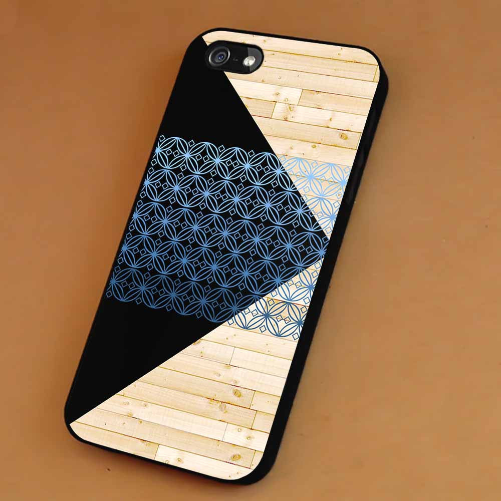 Black Triangle Wooden Pattern iPhone 6s 6 6s+ 5c 5s Cases Samsung Galaxy s5 s6 Edge+ NOTE 5 4 3 #art sp - Kawung Design  - 1