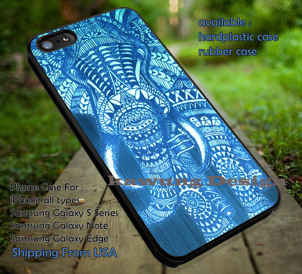 Blue Art Elephant iPhone 6s 6 6s+ 6plus Cases Samsung Galaxy s5 s6 Edge+ NOTE 5 4 3 #art ii - Kawung Design  - 1