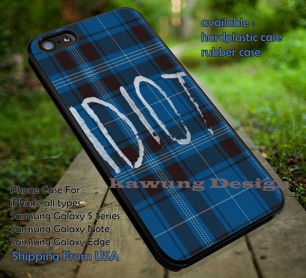 Blue plaid idiot, 5sos, 5 Second of Summer, case/cover for iPhone 4/4s/5/5c/6/6+/6s/6s+ Samsung Galaxy S4/S5/S6/Edge/Edge+ NOTE 3/4/5 #music #5sos ii - Kawung Design  - 1