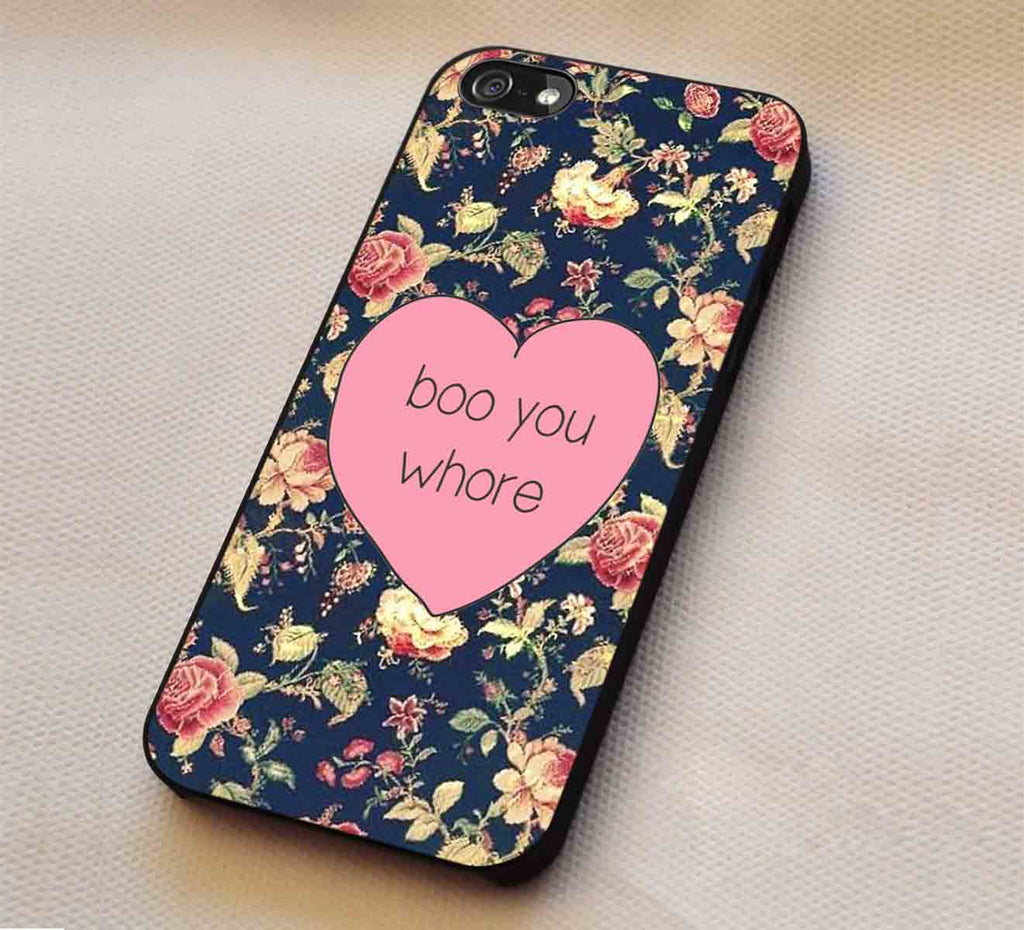 Boo You Whore iPhone 6s 6 6s+ 5c 5s Cases Samsung Galaxy s5 s6 Edge+ NOTE 5 4 3 #art lk1 - Kawung Design  - 1