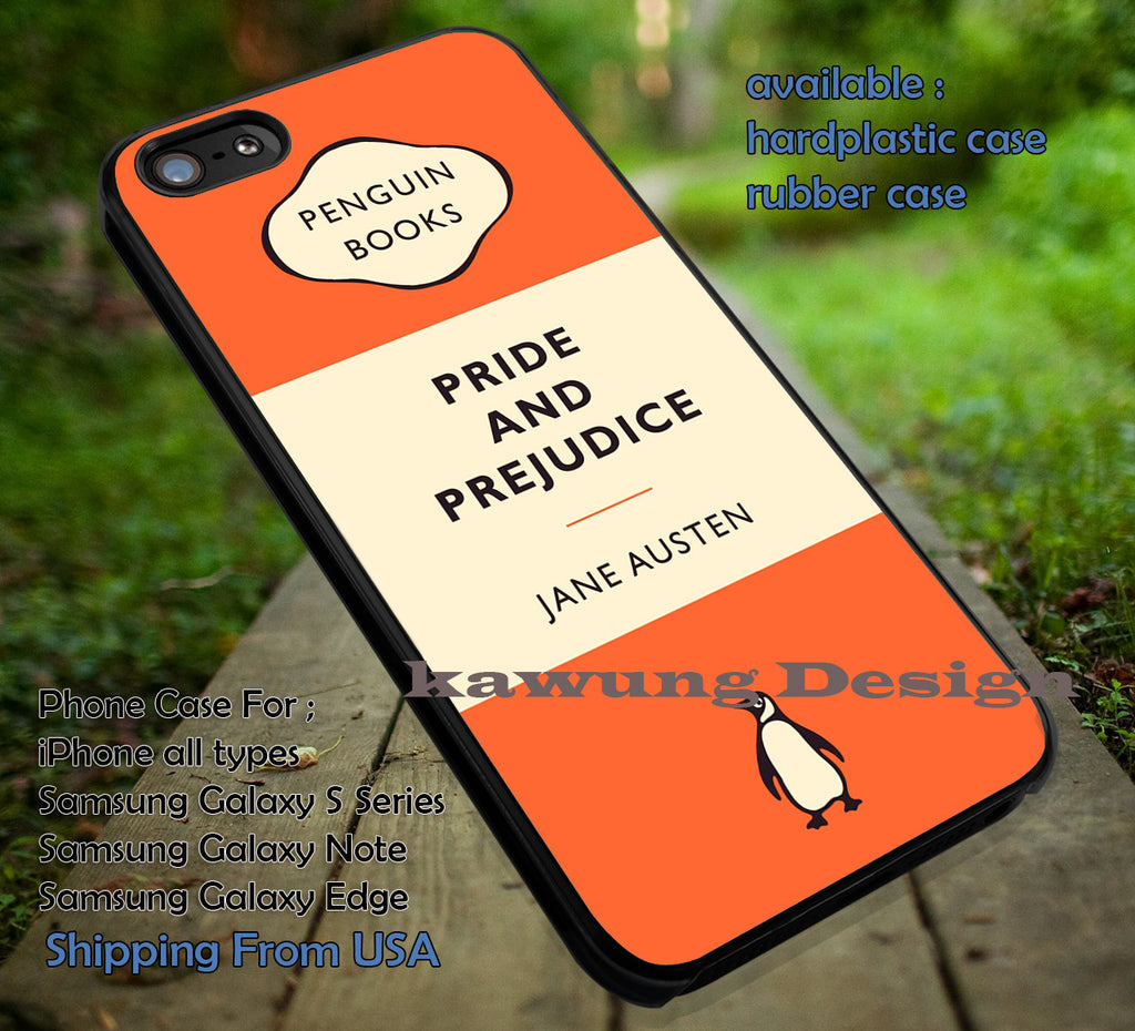 Book Penguin Orange Pride and Prejudice  iPhone 6s 6 6s+ 6plus Cases Samsung Galaxy s5 s6 Edge+ NOTE 5 4 3 #art ii - Kawung Design  - 1