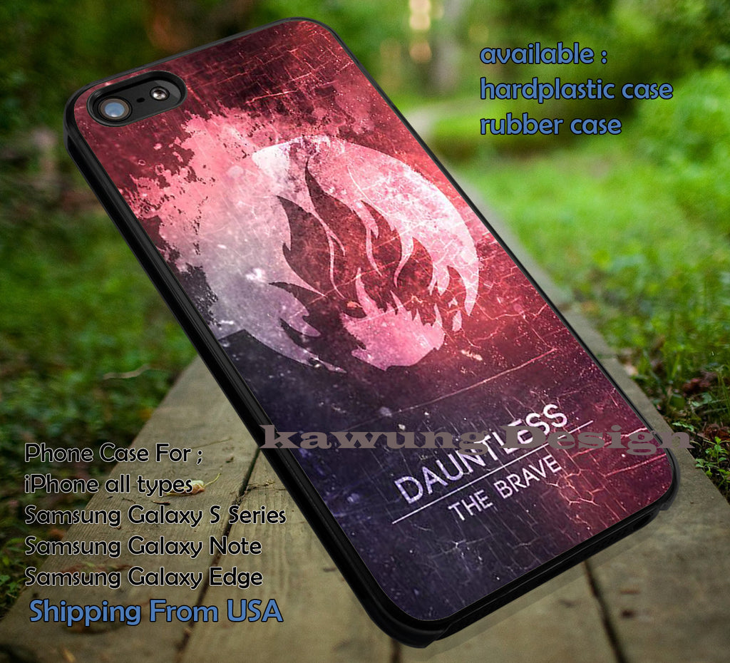 Be Brave Dauntless iPhone 6s 6 6s+ 6plus Cases Samsung Galaxy s5 s6 Edge+ NOTE 5 4 3 #movie #divergent ii - Kawung Design  - 1