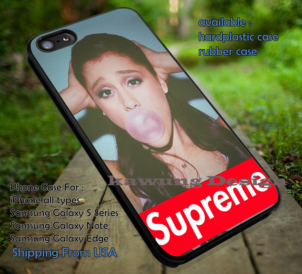 Buble gum, supreme ariana, ariana grande, case/cover for iPhone 4/4s/5/5c/6/6+/6s/6s+ Samsung Galaxy S4/S5/S6/Edge/Edge+ NOTE 3/4/5 #music #arn ii - Kawung Design  - 1