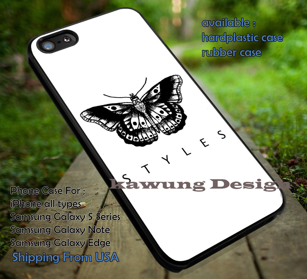 Butterfly Tattoo Harry Styles iPhone X 8+ 7 6s Cases Samsung Galaxy S8 S7 edge NOTE 8 5 4