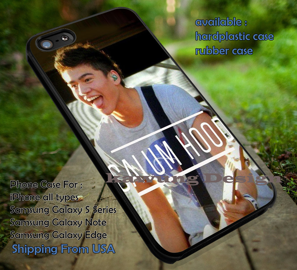 Cool on stage, calum hood, 5sos, 5 second of summer, case/cover for iPhone 4/4s/5/5c/6/6+/6s/6s+ Samsung Galaxy S4/S5/S6/Edge/Edge+ NOTE 3/4/5 #music  #5sos ii - Kawung Design  - 1
