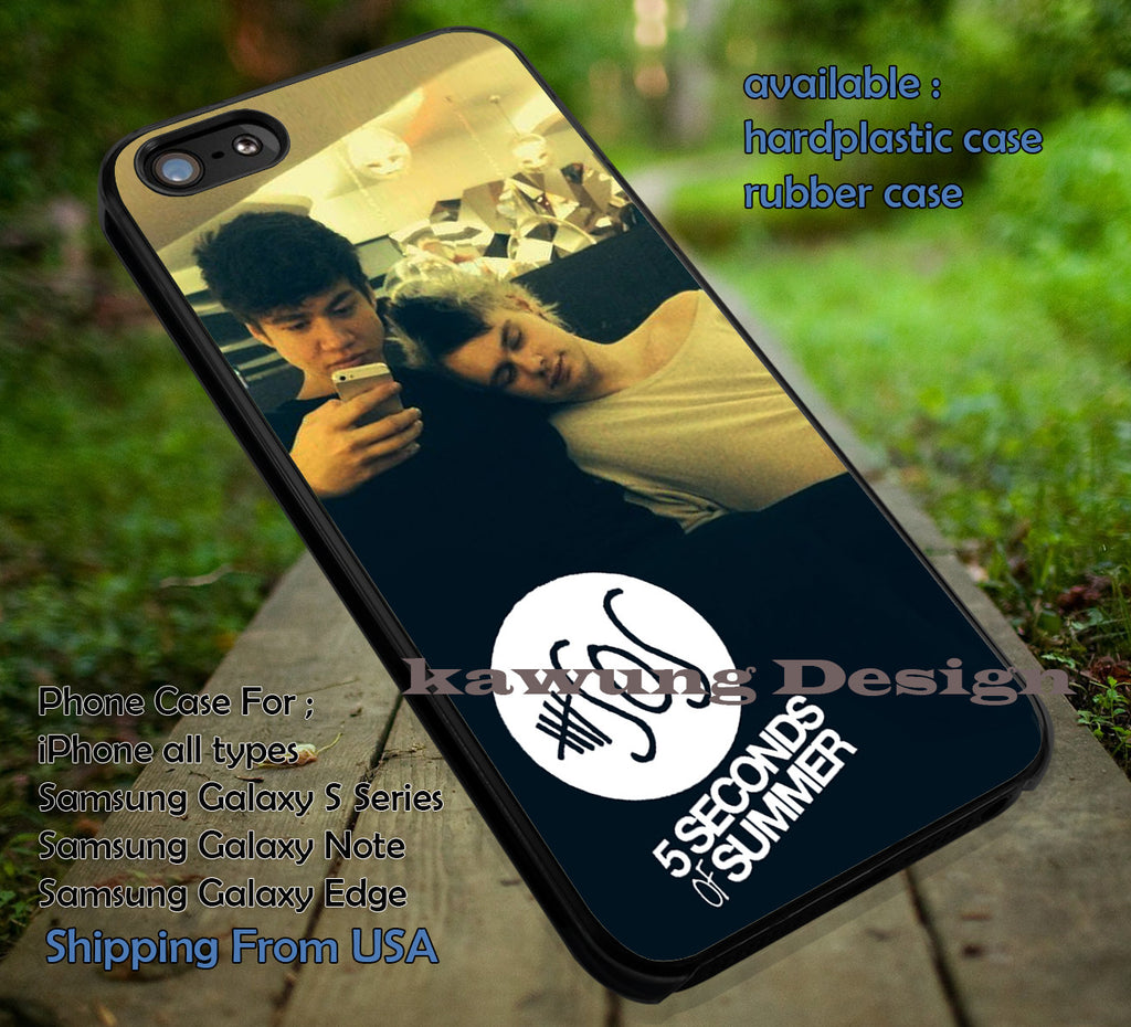 calum mikey, rest room, 5sos, candid picture, michael clifford, calum hood, 5 Second of Summer, case/cover for iPhone 4/4s/5/5c/6/6+/6s/6s+ Samsung Galaxy S4/S5/S6/Edge/Edge+ NOTE 3/4/5 #music #5sos ii - Kawung Design  - 1