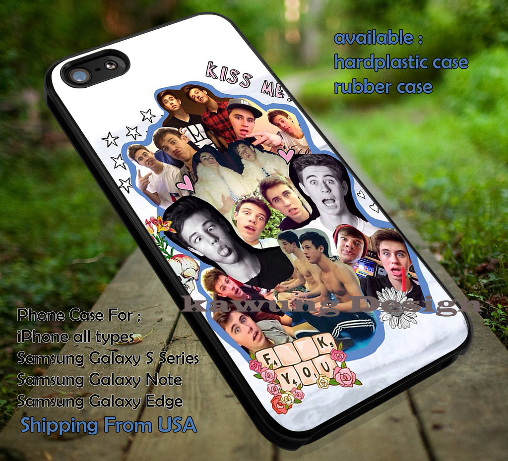 Cameron Dallas and Friend Collage iPhone 6s 6 6s+ 6plus Cases Samsung Galaxy s5 s6 Edge+ NOTE 5 4 3 #movie #MagconBoys ii - Kawung Design  - 1