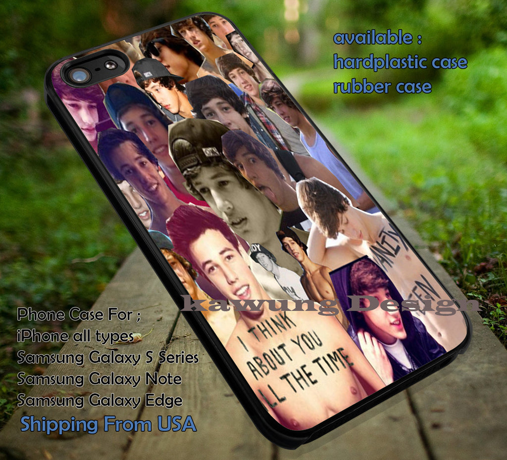 Cameron Dallas Cute Collage iPhone 6s 6 6s+ 6plus Cases Samsung Galaxy s5 s6 Edge+ NOTE 5 4 3 #movie #MagconBoys ii - Kawung Design  - 1
