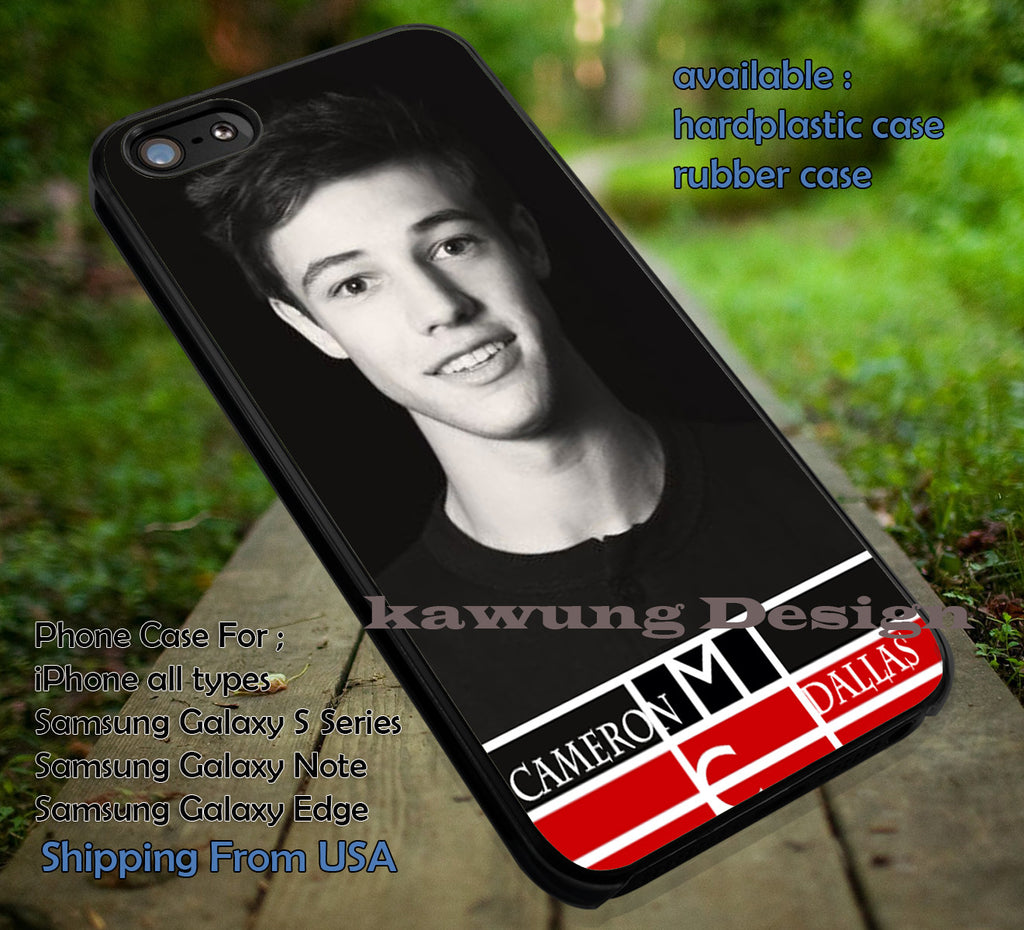 Cameron Dallas Smile iPhone 6s 6 6s+ 6plus Cases Samsung Galaxy s5 s6 Edge+ NOTE 5 4 3 #movie #MagconBoys ii - Kawung Design  - 1