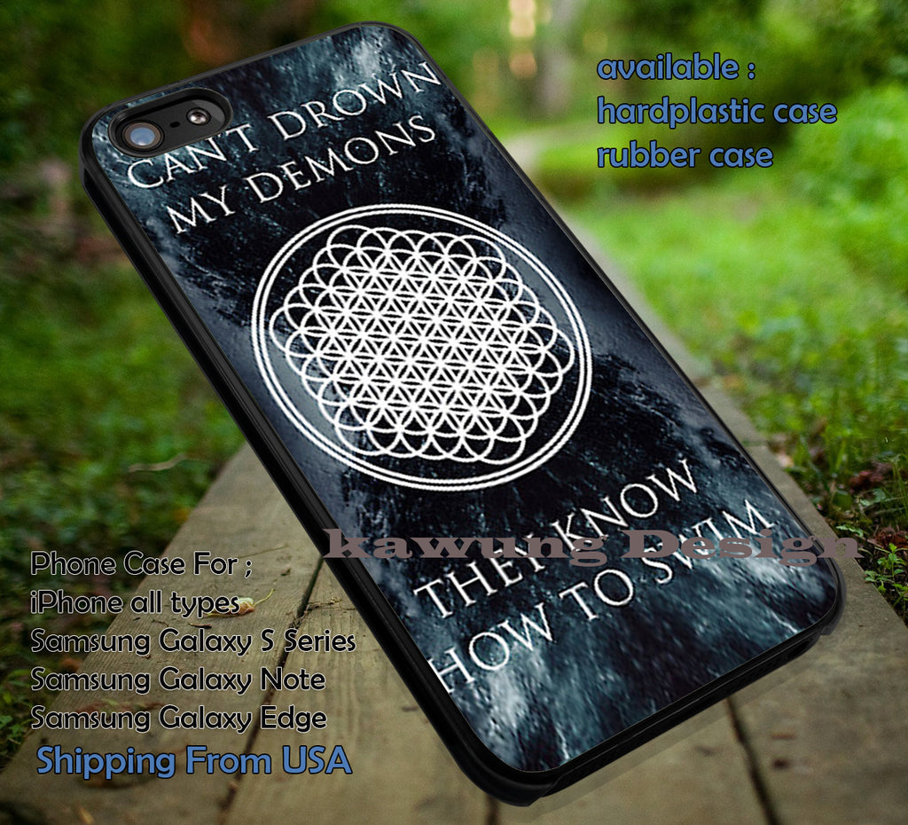 Can't Drown My Demons Lyrics iPhone X 8+ 7 6s Cases Samsung Galaxy S8 S7 edge NOTE 8 5 4