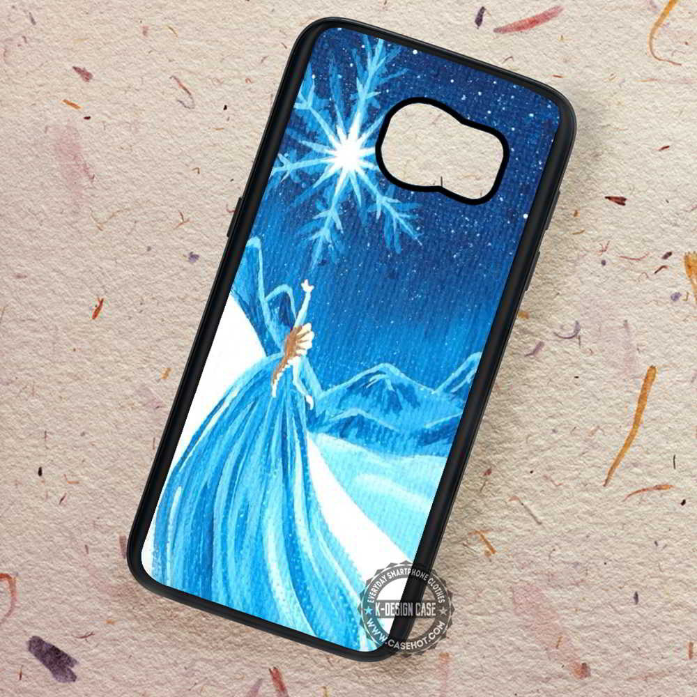 80ee31a6c5a61 Canvas Princess Art Elsa Disney Frozen - Samsung Galaxy S7 S6 S5 Note –  K-Designs