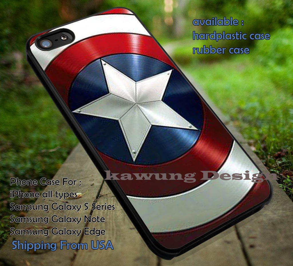 Captain America's Shield iPhone 8+ 7 6s Cases Samsung Galaxy S8 S7 edge NOTE 8 5 4