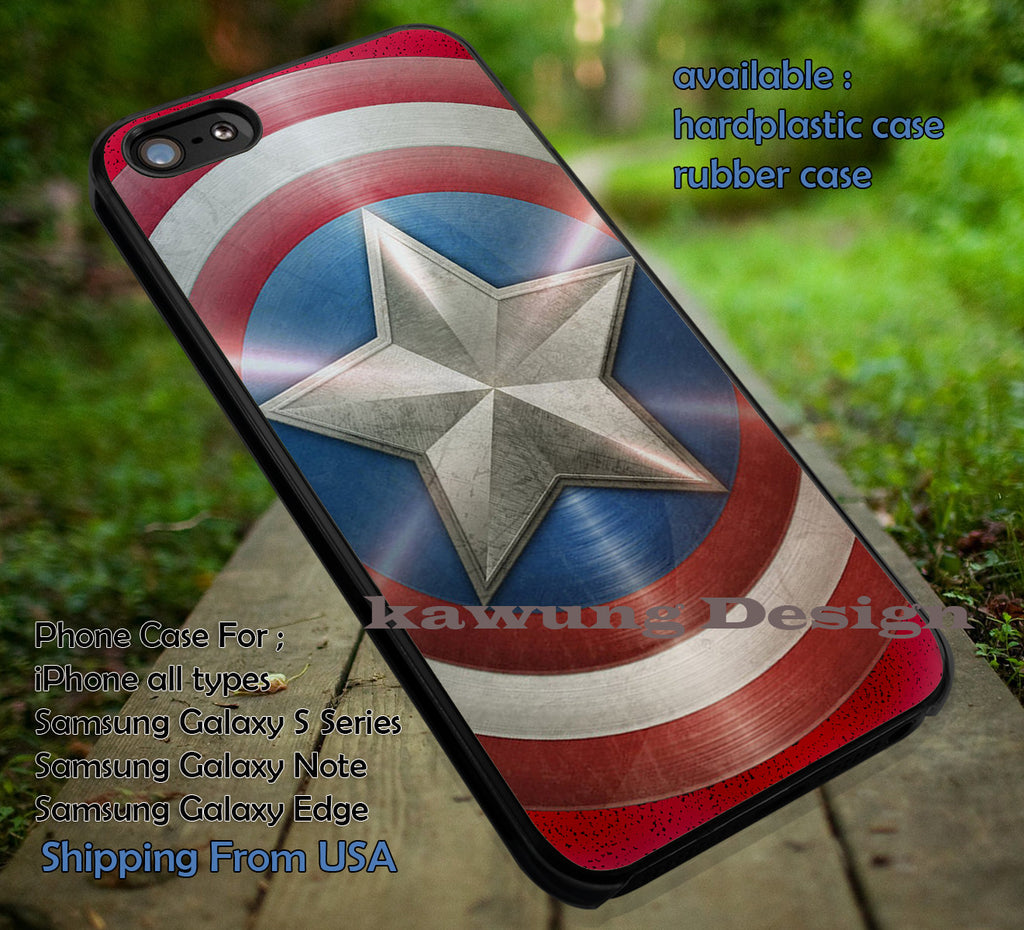 Captain Amerika Shield | Avengers iPhone 6s 6 6s+ 6plus Cases Samsung Galaxy s5 s6 Edge+ NOTE 5 4 3 #movie #cartoon #disney #animated #marvel #comic ii - Kawung Design  - 1