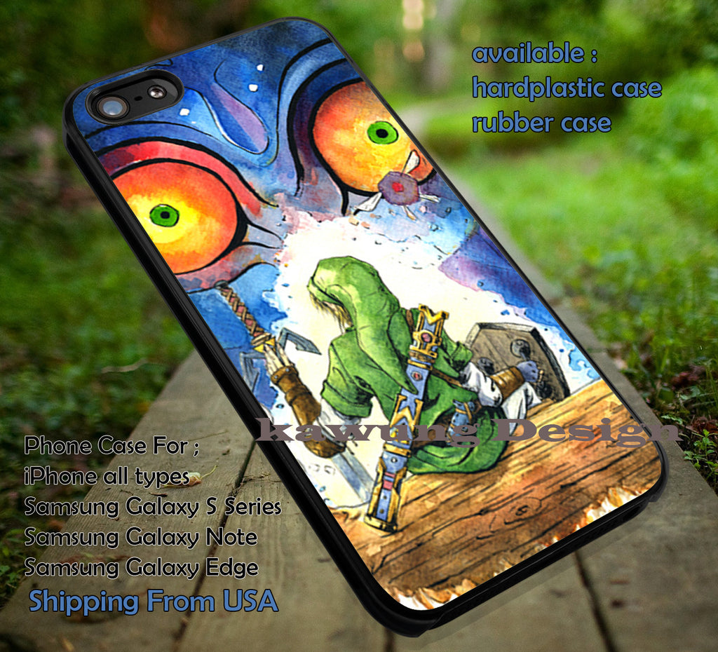 Cartoon Vintage II Majora II Mask II Zelda II Cartoon II Art II case/cover for iPhone 4/4s/5/5c/6/6+/6s/6s+ Samsung Galaxy S4/S5/S6/Edge/Edge+ NOTE 3/4/5 #cartoon #animE #TheLegendOfZelda #game ii - Kawung Design  - 1